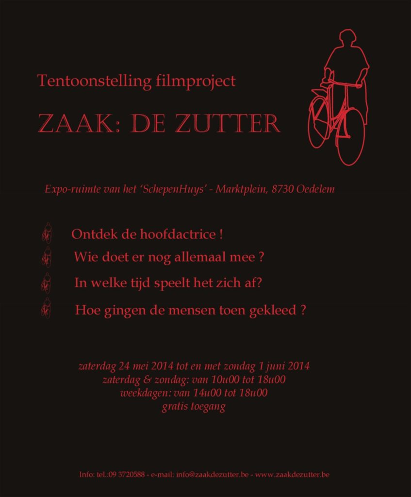 """Tentoonstelling Zaak: De Zutter"""